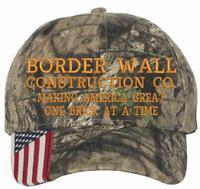 DONALD TRUMP BORDER WALL CONSTRUCTION CO. MAGA HAT Make America Great Again MAGA
