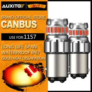 AUXITO Red 1157 LED Brake Stop Tail Light Parking Bulbs BAY15D 7528 2357 CANBUS