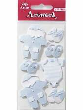 Artoz Baby Clothes Boy Craft Embellishment Stickers Card Making Scrapbooking New