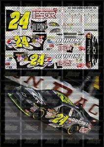 NASCAR 1/24 DECALS JG06 - JEFF GORDON 2009 CUP #24 NATIONAL GUARD - ESGR