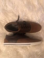 Aldo Mens Casual Dress Sneakers Shoes Cognac Brown Leather Size 7.5 Brand New