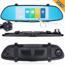 HD 1080p Dual Lens Car DVR Vehicle Rearview Mirror Camera Recorder Dash Cam 170°