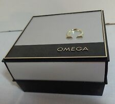 VINTAGE OMEGA BLACK & SILVER WATCH BOX / CASE EXCELLENT CONDITION !
