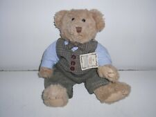 """Russ Timeless Teddies Bear in a Vest & Corduroy Slacks 15"""" Tall Moving Joints"""