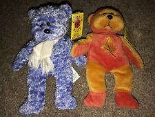 Frosty The Winter Bear 2/6/00 & Fall The Autumn Bear. Perfect Condition With Tag