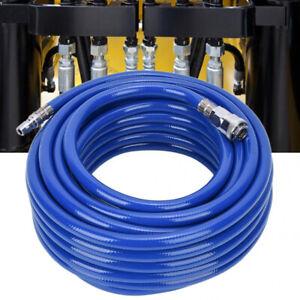 "15M Air Compressor Pipe Hose Line Pneumatic PVC Quick Connector 1/4"" MNPT JH"