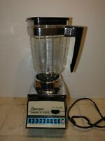 Vintage OSTERIZER BLEND N CYCLE Turquoise 10 cycle Blender glass pitcher chrome
