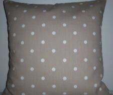 """CUSHION COVER  PILLOW SHAM 16"""" POLKA DOT DOTTY SPOTS TAUPE COUNTRY COTTAGE FARM"""