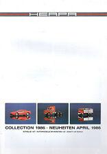 HERPA COLLECTION' 1986-nouveautés avril' 1986-Modélisme-Bmw m1-Porsche 928-neu