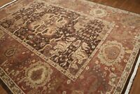 9' x 12' Hand knotted Wool Full Pile Persiano Area Rug Transitional 9x12 Brown