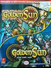 Golden Sun and Golden Sun 2 : The Lost Age Prima Guide RARE OOP Collectible