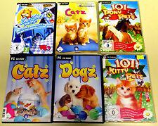 Pc jeux collection zhu zhu pets 101 poney Kitty Catz Dogz Enfants Animal simulation