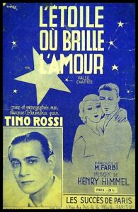 Ancienne Partition, L'Etoile où brille l'Amour - Tino Rossi - H. Himmel