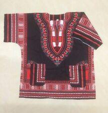 AFRICAN SHIRT DRESS MEN WOMEN HIPPIE STYLE CAFTAN UNISEX DASHIKI TRIBAL BLACK 5