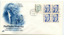 2170 3c Paul Dudley White, MD, ArtCraft, block of 4, FDC