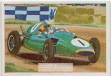 Cooper Climax  British 1,220 cc Sports Racing Car Auto  Vintage Trade Ad  Card