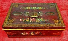 SECURITY IRON BOX. POLYCHROMED IRON. WITH KEY. SPAIN. CIRCA 1850
