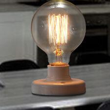 E27 60W Round Edison Squirrel Cage Filament Bulb G80 screw Vintage Light Bulb