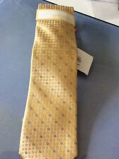 $65 Michael Kors Men's Silk Yellow Tie Ring Neat # 6