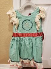 Wildflowers Clothing Peace On Earth Dress EUC Size 6 linen