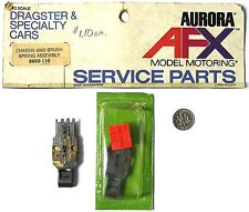 1 Aurora AFX 4-Gear Non Magnatraction Slot Car CHASSIS SHELL & BRUSH ASMBLY 8660