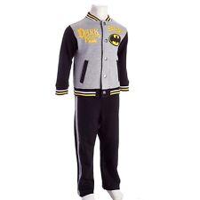 NWT DC Comics Batman Dark Knight Toddler Boys Varsity Jacket Pants Outfit/Set 2T