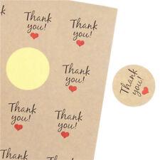 Stickers - Kraft Thank You  - Set of 24