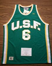 Bill Russell Signed USF Jersey - Hollywood Collectibles COA - Autographed Auto