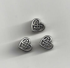 Silver Celtic Heart Beads Love Knot Irish Lot of 4Pc 0 shipping after 1st item