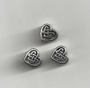 Silver Celtic Heart Beads Love Knot Irish Lot of 20Pc 0 shipping after 1st item