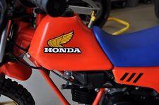 "Vintage Honda factory fuel tank wings 1983 QR50 4 3/8"" x 2 5/8""  111mm x 67mm"