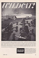 1963 BUICK WILDCAT CONVERTIBLE  ~  RARE SMALLER SIZE PRINT AD