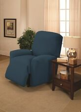 "JERSEY RECLINER COVER----LAZY BOY-----COBALT----""STRETCHES"" --FITS MOST CHAIRS"
