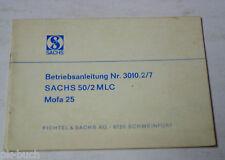 Betriebsanleitung Sachs 50 / 2 MLC Mofa 25