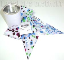 DIOR pale blue Leopard MITZAH skinny 2-sided Silk scarf NWT in BOX Authentc $200