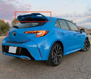 Toyota Corolla Hatchback Add on Roof Spoiler Matte Black 2019 2020 2021