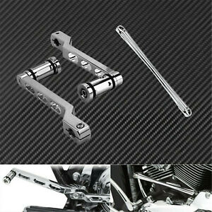 Chrome Heel Toe Shift Lever Shifter Peg Linkage Fit For Harley Touring Softail