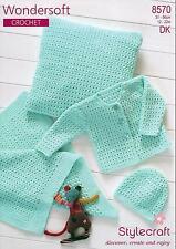 Stylecraft 8570 Crochet Pattern Cardigan, Hat, Blanket & Cushion in DK