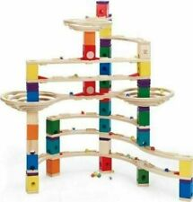 Hape Quadrilla Wooden Marble Run Construction Set -The Challenger - 96 Pieces