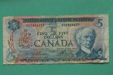 1972 Canada Five Dollar $5 Note SNo44027