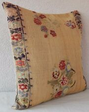20 X 20''  French Decor Handwoven Needlepoint Tapestry Aubusson Rug Pillow Cover