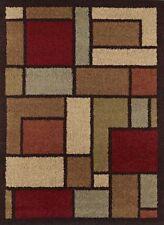 """Multi-Color Geometric Shag Flokati Area Rug 5x7 Carpet: Actual 5' 3"""" x 7' 3"""""""