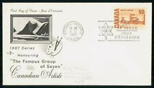 Canada Fdc 1967 Cover Famous Group Of 7 Artists
