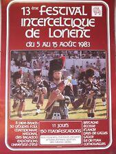 § Affiche festival Interceltique de Lorient 1983 - Bretagne, Folklore §