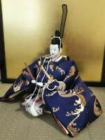 Vintage Japanese doll Samurai emperor warrior in Kimono Figure Plush EXCELLENT