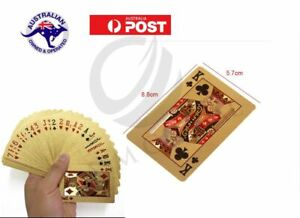 GOLD Plated POKER Playing CARDS Waterproof PVC Plastic Casino Game 54 Deck