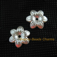 70 New Charms Acrylic Plastic Flower Spacer End Bead Caps White 14.5mm