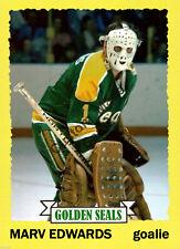 Custom made Topps 1973-74 California Golden Seals  Marv Edwards hockey card