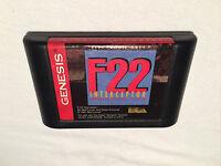 F-22 Intercerptor (Sega Genesis, 1991) Rectangular Game Cartridge Excellent