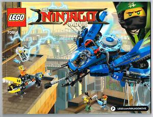 LEGO Instruction Book 70614 NEW for Ninjago Movie - Lightning Jet - Manual